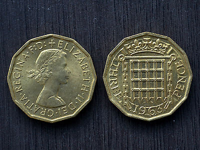 1963 Great Britain 3 Pence Threepence  km900 UNC Coin United Kingdom