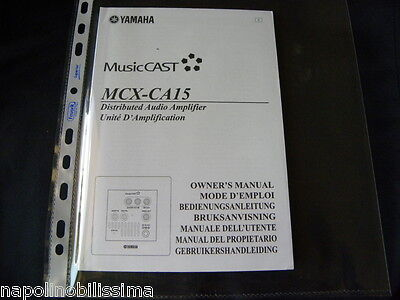 Yamaha MusicCast MCX-CA15 Owner's Manual  Operating Instruction New