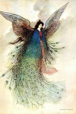 The Moon Maiden By Warwick Goble 1910 Repro Print Poster Picture Image Art A4