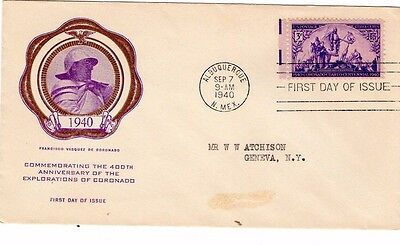 1940 EXPLORATION OF COLORNADO 400th ANNIVERSARY FDC FROM COLLECTION I24