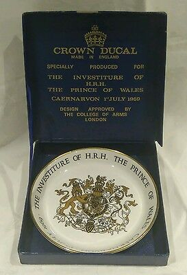 Crown Ducal, Boxed, Investiture Of The Prince Of Wales 1969 Commemorative Plate