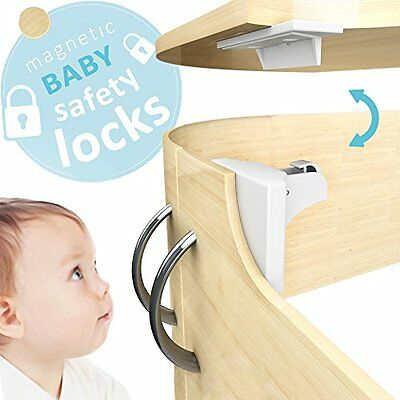 Baby Proofing Cabinet Magnetic Lock 8 Child Proof Locks Easy Set Dr. Safety NEW