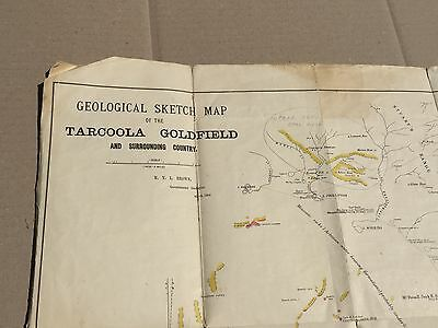 Circa 1902 TARCOOLA GOLDFIELD & Surrounds Geological Sketch Map - Cloth backed