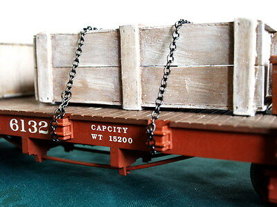 New Model Chain Black With Hooks,1Metre, All Scales,  Diorama, Model Boat Ect