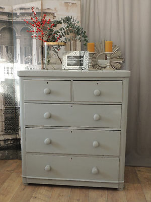 Shabby chic Victorian chest of drawers/tallboy by Eclectivo