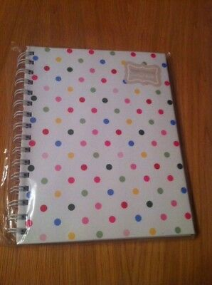 Address Book / Contact Vintage Shabby Chic White Spotty Design A5 New