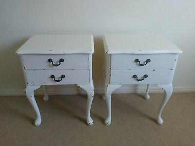 White Shabby Chic Bedside Tables