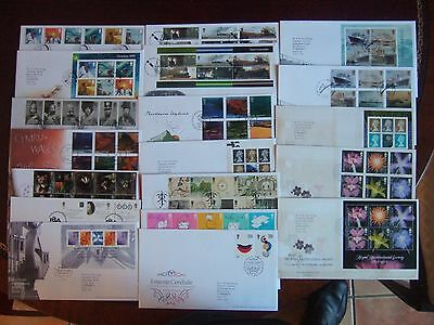 GREAT BRITAIN 2004 x 19 ALL DIFFERENT FIRST DAY COVERS SETS M/SHEETS PRESTIGE