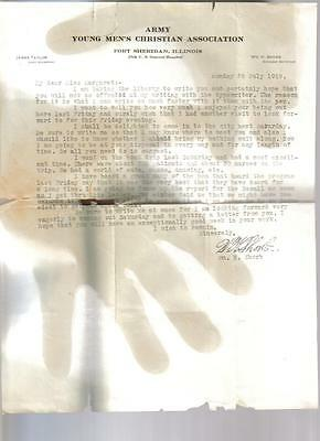 1919 Army Young Mens Christian Association Letter