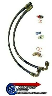 Braided Turbo Water Feed & Return Lines for R33 GTS-T Skyline RB25DET