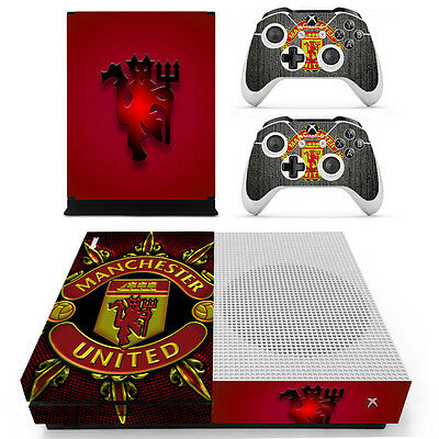 Manchester United Xbox ONE S Slim Vinyl Skin Sticker for Console & 2 Controllers