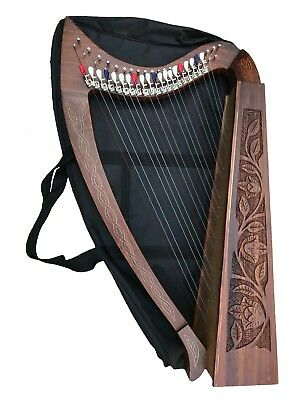 22 String Harp with Levers & Extra Strings, Carry Soft Bag & Tuning Key