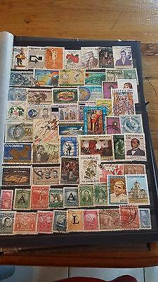 61 TIMBRES DE Colombie (lot 16)