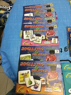 Starter Stile Learning Books Spelling &phonics One Set Only 1&2 Or 9&10 Or 11&12
