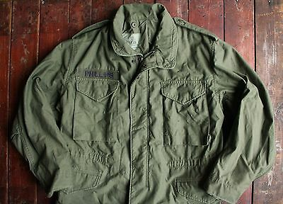 Vtg 1989 Us Army M65 Cold Weather Og-107 Field Jacket So-Sew Styles Short Medium