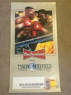 Mike Tyson V Evander Holyfield Boxing Fight Poster Print Boxing Memrobillia