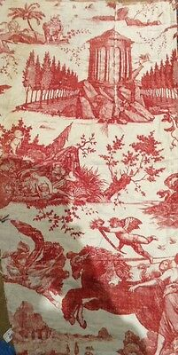 Early  19 th century French toile de jouy panel. Chariot at Dawn panel. linen