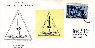 Usa 1956 Texas Philatelic Association Fdc From Collection O16