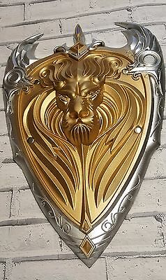 WOW World of Warcraft The Alliance Gold Lion Shield Larp CosPlay Movie Foam PU