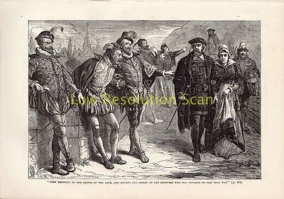 Mocked & Jeered At The Geneves Bridge Of The Arves Antique Print Engraving C188