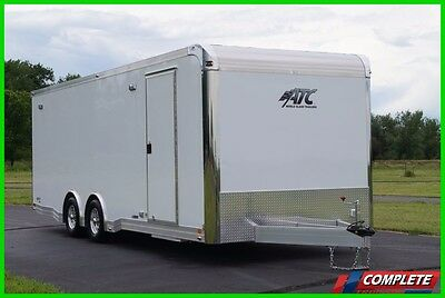 IN STOCK 8.5 X 24 Aluminum ATC Enclosed Carhauler  Trailer: Cabinets VIDEO