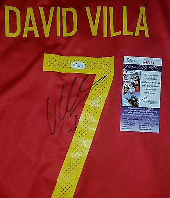 David Villa Spain World Cup Champion Signed Jersey Size XL in Person. JSA CERTIF