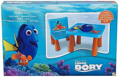 Disney Pixar Finding Dory Sit & Colour Table & Chair Blue Gift Ages Upto 3 Years