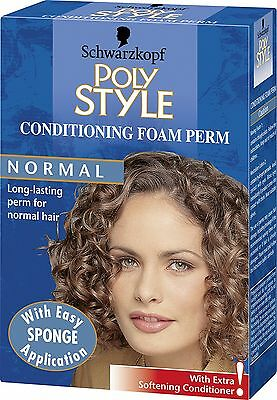 Schwarzkopf Poly Style Conditioning Foam Perm for Normal Hair - Pack of 3 NEW