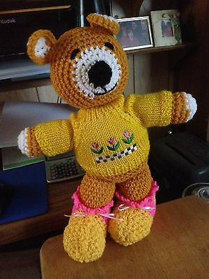 Teddy Bear New hand crochet soft and cuddly with clothes washable and dryable