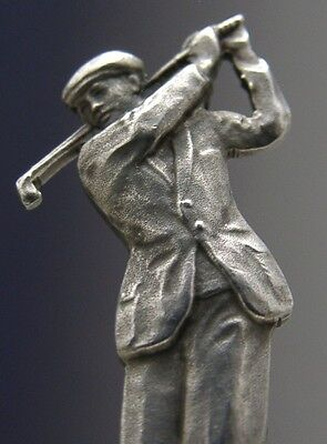Superb Solid Sterling Silver Golfing Spoon 1935 Sporting Antique