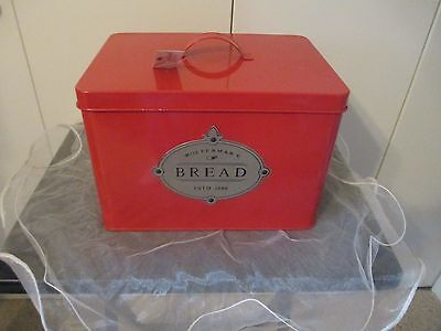 Harry And David Woffermans Red Enamelware Bread Box