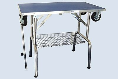 BURTONS Portable Foldable Dog Grooming/Trolley Table with Wheels INCLUDES VAT