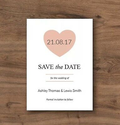 50 Personalised Magnetic Save The Dates With Envelopes