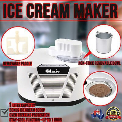 Family Size Ice Cream, Sorbet or Frozen Yogurt Maker with LCD Display 1L
