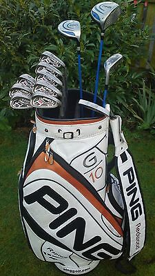 Fantastic Full Set of Ping Golf Clubs Including Ping Tour Golf Bag FREE POST