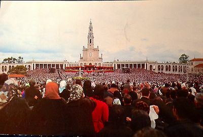 Fatima Portugal Mass and Blessing of the Pilgrims Vintage Postcard