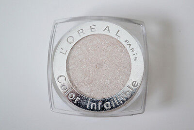 Loreal Infallible Eyeshadow Eye Color No 001 Time Resist White New