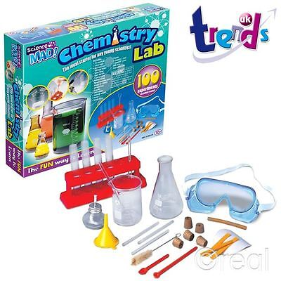 New Trends Science Mad Chemistry Lab 100 Experiments Playset Childrens Official