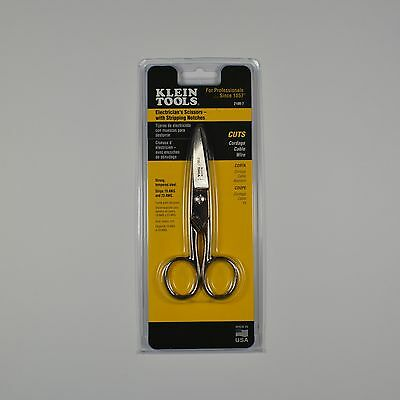 Klein Tools 2100-7 Electrician's Scissors with Stripping Notches - NEW