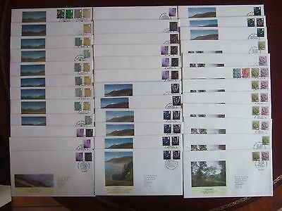 GREAT BRITAIN 2000-2011 36 x DIFF MODERN REGIONAL FIRST DAY COVERS VALS TO £1.10
