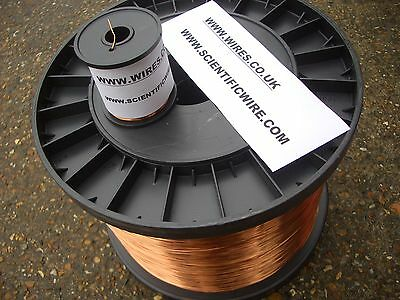 30AWG - ENAMELLED COPPER WINDING WIRE, MAGNET WIRE, COIL WIRE - 500 Gram hi temp