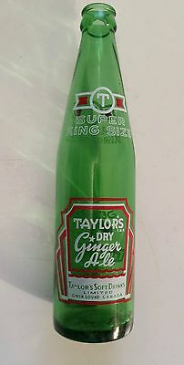 "Scarce Canadian (Owen Sound, Ontario) ""taylors Super King Size""12 Oz-Red & White"