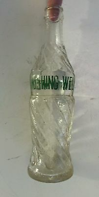 "Rare Canadian (London, Ontario) ""wishing Well"" 11 Oz Embossed Bottle - Green Acl"