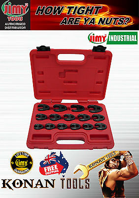 "Crow Foot Spanner Set Metric 15 Piece 3/8"" & 1/2"" Drive"