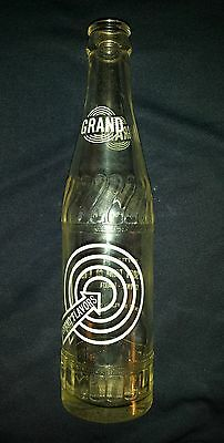 "Scarce Canadian (St. Paul, Alberta) ""grand Flavours"" 10 Oz Clear  Bottle- White"