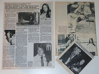 OLIVIA HUSSEY spanish clippings 1960s/70s photos Romeo and Juliet
