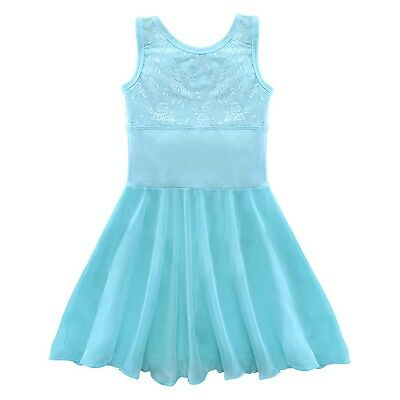 NEW Ballet Dress Turquoise Lace Cotton Empire Waist Youth Fits 3 - 4 years old