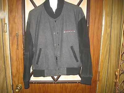 X Files Expo 1998 Promotional Leather & Wool Jacket Large (Never Worn)