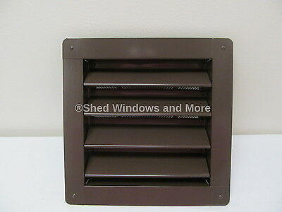 """Vent Gable Wall 8"""" x 8"""" Aluminum Brown Shed Chicken Coop Playhouse Barn Vents"""