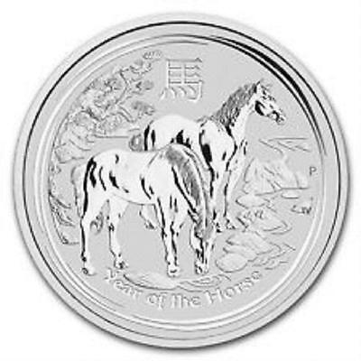 """Lunar 2014  Pièce argent 0,5 Once  """" Year of the Horse """"  0.5 oz Silver Coin"""